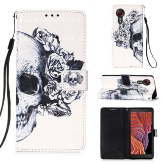 Plånboksfodral Samsung Galaxy XCover 5 – Döskalle / Rosor