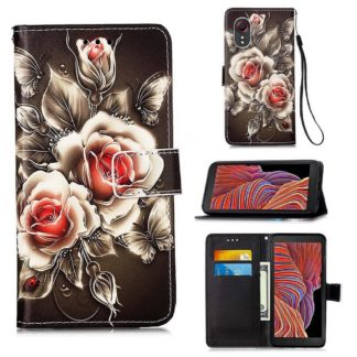 Plånboksfodral Samsung Galaxy XCover 5 – Rosor