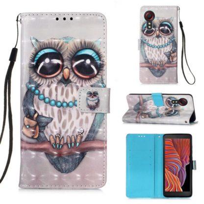 Plånboksfodral Samsung Galaxy XCover 5 – Utsmyckad Uggla