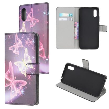 Plånboksfodral Samsung Galaxy XCover 5 - Lila / Fjärilar