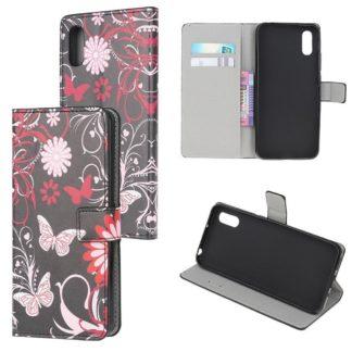 Plånboksfodral Samsung Galaxy XCover 5 - Svart med Fjärilar