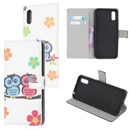 Plånboksfodral Samsung Galaxy XCover 5 - Ugglor & Blommor